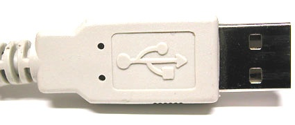 The USB logo is always worked into the connector itself