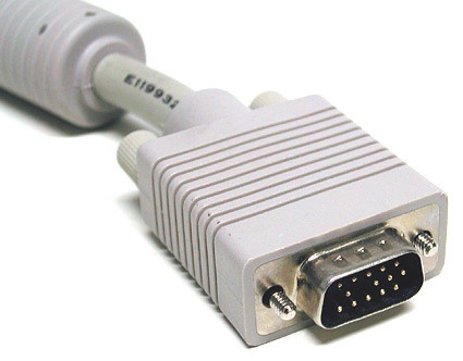 VGA connector on a monitor cable