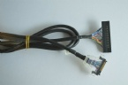 Custom I-PEX 20319 micro coax cable assembly 2023488-1 LVDS eDP cable assembly factory