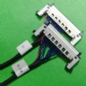 Custom SSL00-40S-0500 fine pitch harness cable assembly DF81-50P-SHL eDP LVDS cable Assemblies supplier